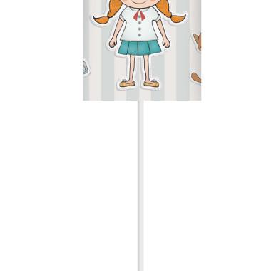 Lampka nocna z nadrukiem-kolorowy abażur z dziewczynką