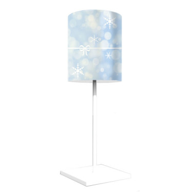 Lampka nocna z nadrukiem-jasnoniebieski abażur