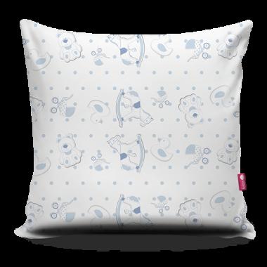 Jasnoniebieska poduszka dla dziecka-pomysł na prezent.
