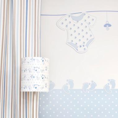 Jasnoniebieska lampka do pokoju dziecka- błękitmne marzenia.