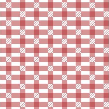 Tapeta z czerwonym wzorem.