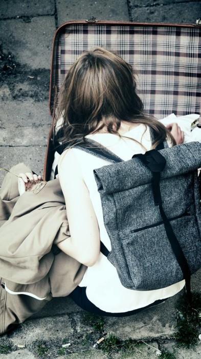 Plecak ROLADA SZARY- porządny, modny plecak w miejskim stylu.