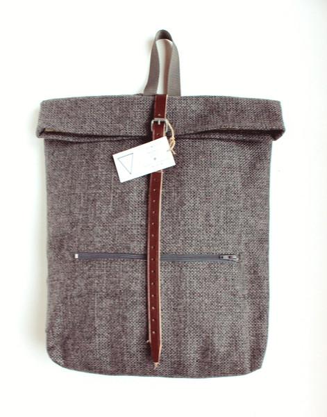 PLECAK WOREK SZARY-Porządny, modny plecak