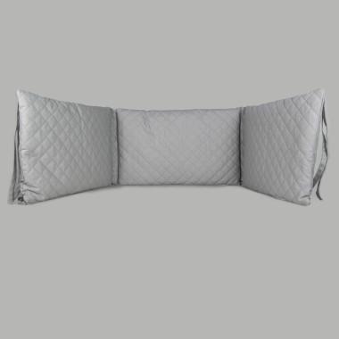 Milky Grey - pikowany ochraniacz do łóżeczka