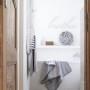 Milky Grey - duży ręcznik kąpielowy z kapturem 140x70 idealny na basen!