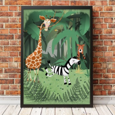 Plakat dla dziecka-Dżungla