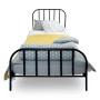 youngDECO łóżko metalowe SCANDI czarne 2