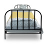 youngDECO łóżko metalowe SCANDI czarne 3
