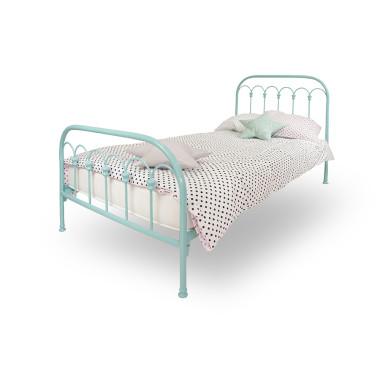youngDECO łóżko metalowe WAVE turkusowe 1