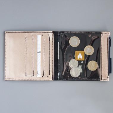 Pocket MIDI / Black Gold - portfel ze skóry