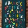 Plakat dla dziecka-Alfabet Kosmos
