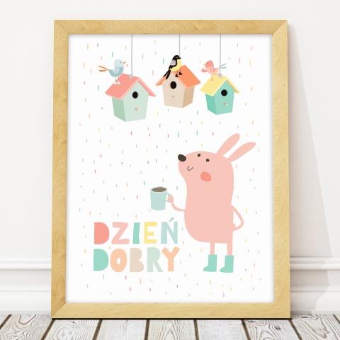 Plakat dla dziecka-Dzień dobry