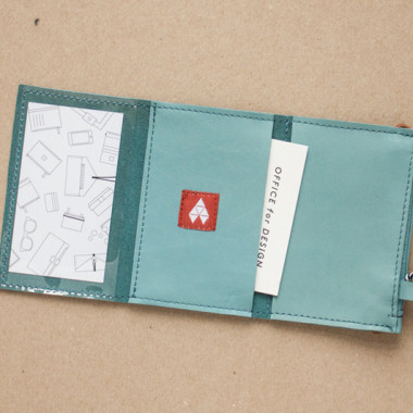 MIKRO + / Blue - portfel ze skóry