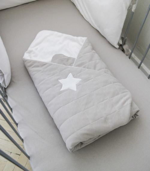 Gwiazda - pikowany rożek - kocyk dla niemowląt