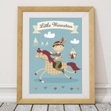 Plakat Little Winettou- mały indianin