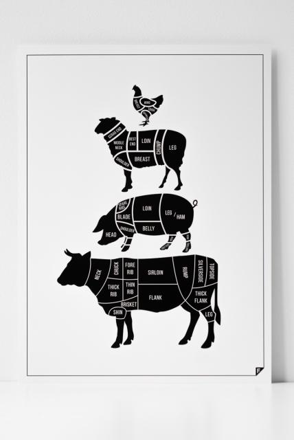 Czarno Biały Plakat Do Kuchnidesignerski I Nowoczesny