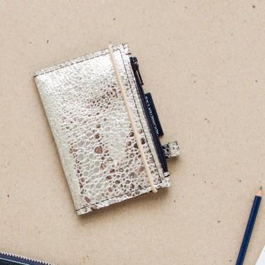 MIKRO / Silver - portfel ze skóry