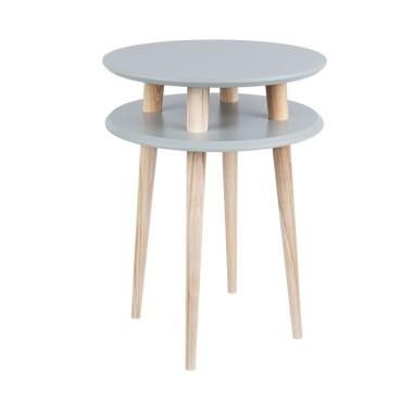 ciemnoszary okrągły stolik kawowy ragaba wysokość 61cm, średnica 45cm