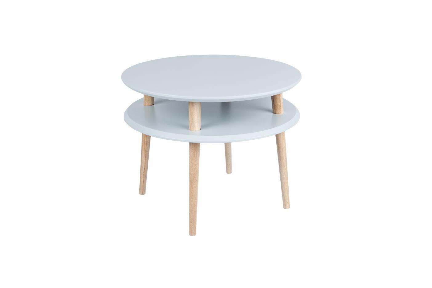 jasnoszary okrągły stolik kawowy ragaba wysokość 45cm, średnica 57cm