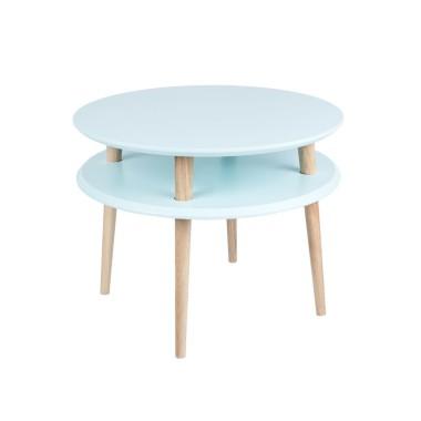 niebieski okrągły stolik kawowy ragaba wysokość 45cm, średnica 57cm