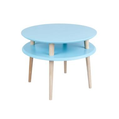 turkusowy okrągły stolik kawowy ragaba wysokość 45cm, średnica 57cm
