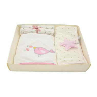 Zestaw 3w1 dla dzieci i niemowląt-ręcznik, pieluszki, kocyk-idealny na prezent.