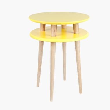 zółty okrągły stolik kawowy ragaba wysokość 61cm, średnica 45cm