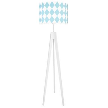youngDECO lampa podłogowa trójnóg romby turkusowe