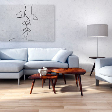 Pętla egzystencji - nowoczesny obraz na płótnie do salonu, jadalni, sypialni lub przedpokoju. Biało-czarny obraz.