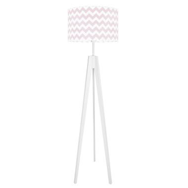 youngDECO lampa podłogowa trójnóg - różowy chevron