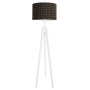 Lampa podłogowa stojąca-trójnóg biały. youngDeco. Koniczyna marokańska mała czarna