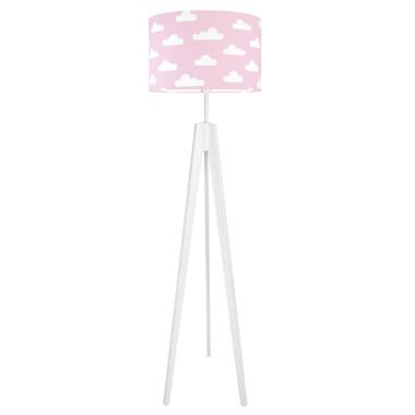 youngDECO lampa podłogowa trójnóg chmurki na różowym