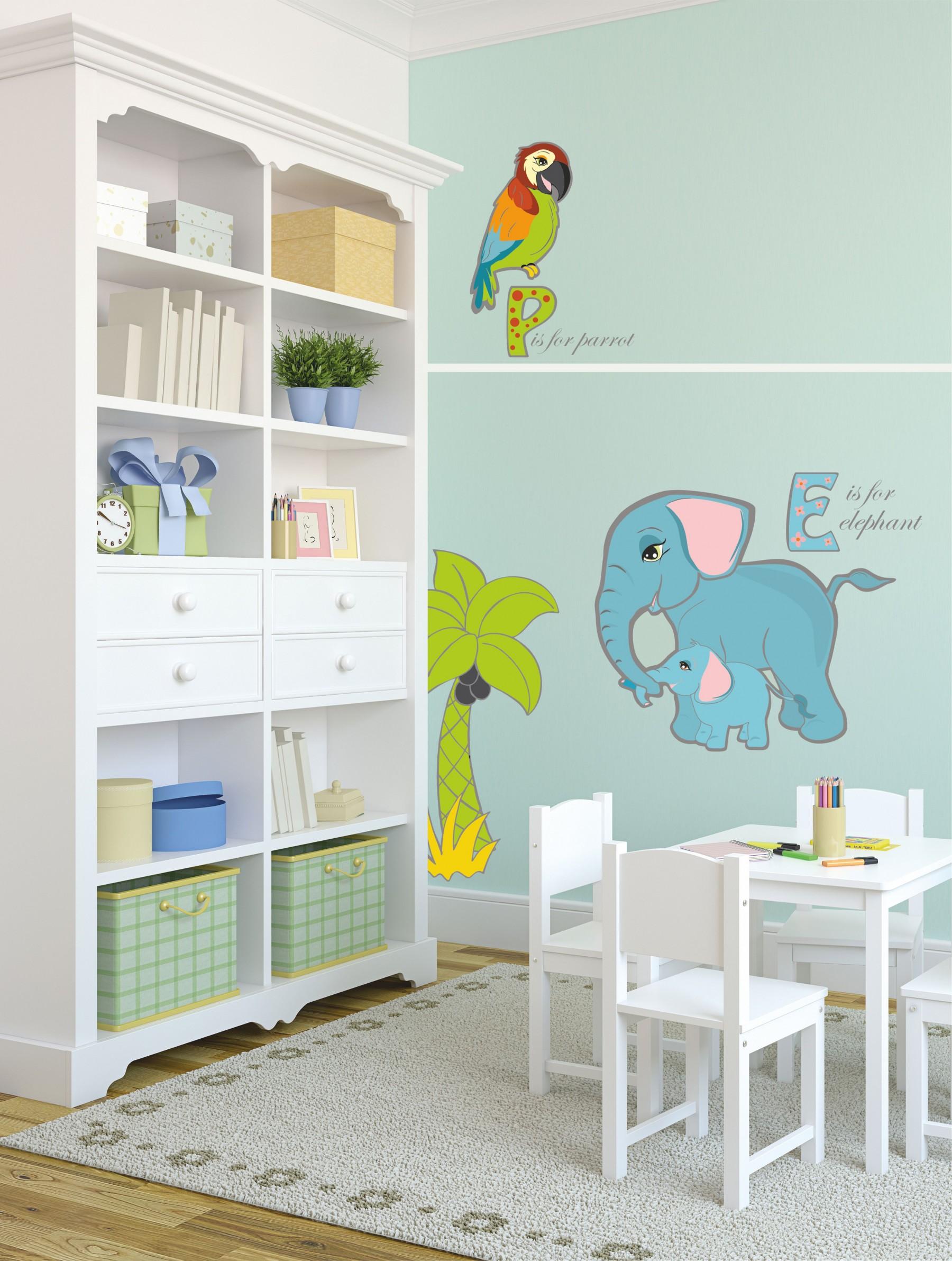 Naklejki na ścianę do pokoju dziecka-Safari -Zwierzęta Afryki - Zoo
