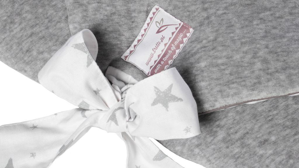 Rozek-dla-niemowlat-GreyStars-gwiazdki-szary. Prezent na Babyshower.