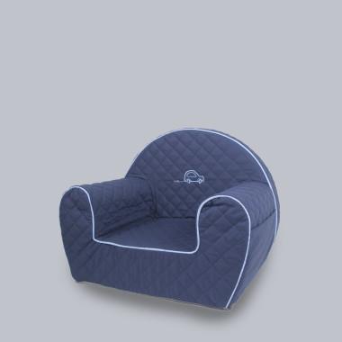 Autko - wygodny fotelik dla dziecka.Granatowy.