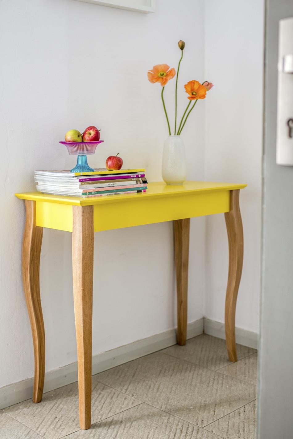 Konsola, stolik do przedpokoju, salonu żółta