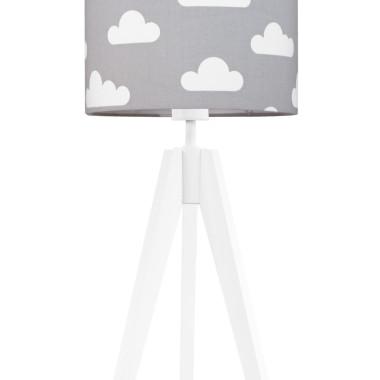 youngDECO lampa na stolik trójnóg chmurki na szarym