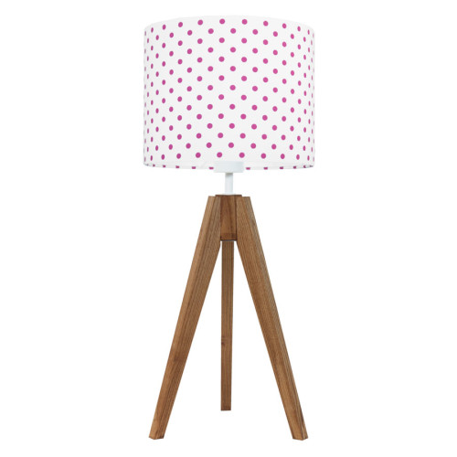 Lampa na stolik Grochy amarantowe