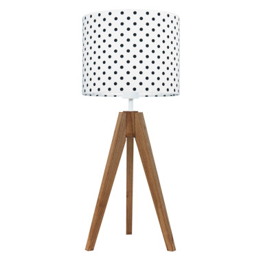 Lampa na stolik Grochy czarne