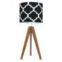 youngDECO lampa na stolik trójnóg dębowy koniczyna marokańska czarna