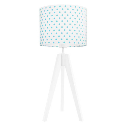 youngDECO lampa na stolik trójnóg grochy turkusowe