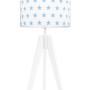 youngDECO lampa na stolik trójnóg gwiazdki błękitne