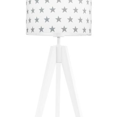 youngDECO lampa na stolik trójnóg gwiazdki szare