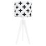 Lampa na stolik Krzyżyki czarne