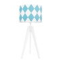 Lampa na stolik Romby turkusowe