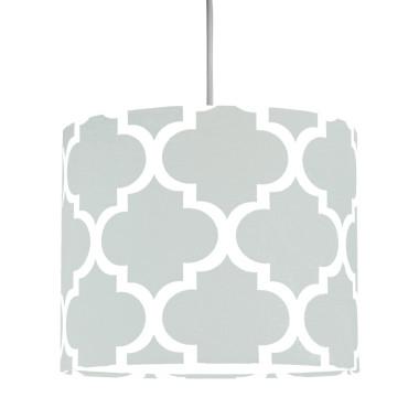Abażur - Abażur - Lampa sufitowa mini Lampa sufitowa mini koniczyna marokańska szara