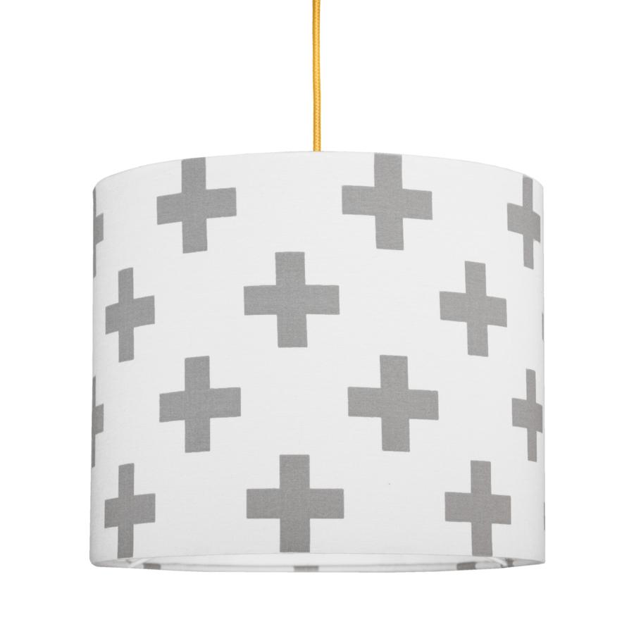Abażur - Lampa sufitowa mini Krzyżyki szare. Young Deco.