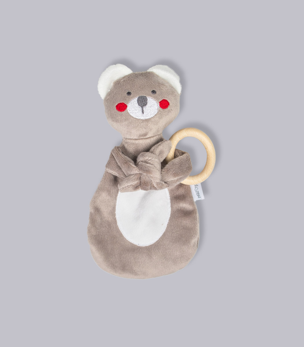 My Teddy / Miś - zabawka do usypiania z drewnianym gryzakiem