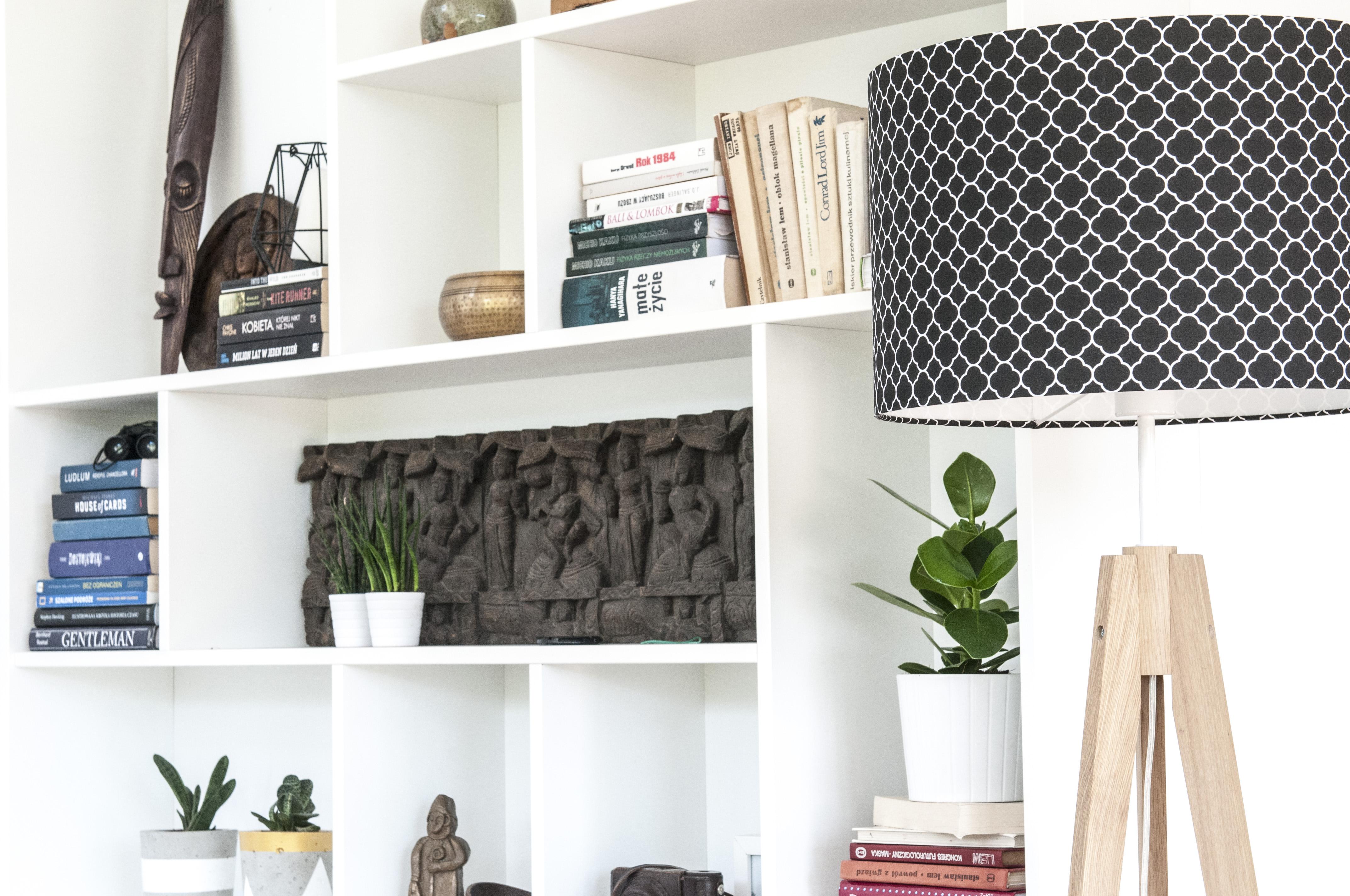Koniczyna marokańska mała czarna -  lampa podłogowa trójnóg
