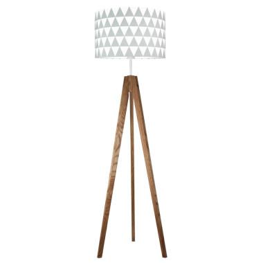 Trójkąty - lampa podłogowa trójnóg dębowa olejowana.Young Deco